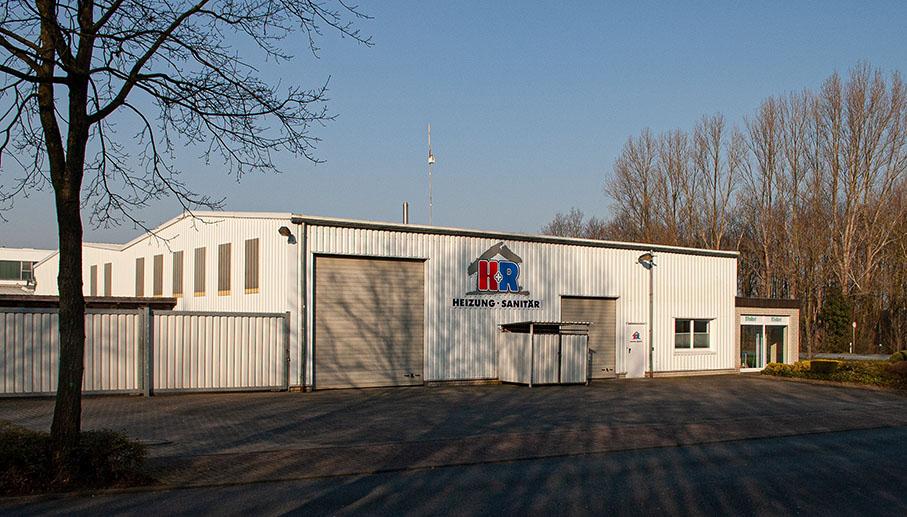 H+R Geschäft und Halle aus Richtung Osten gesehen