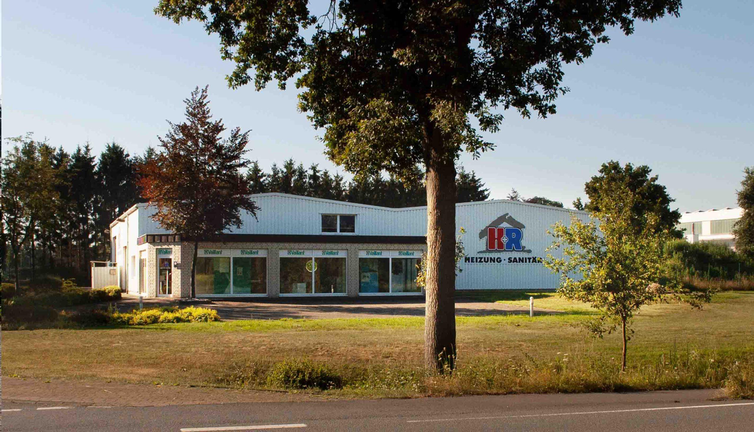 H+R Geschäft und Halle aus Richtung Nord-Osten gesehen
